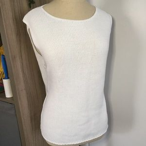COLDWATER CREEK White Sweater Tank